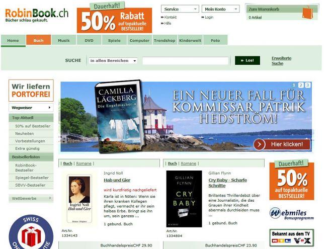 Robinbook.ch